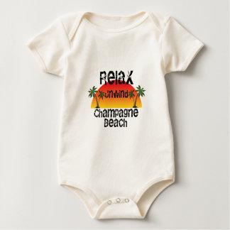 Relax Unwind Champagne Beach Baby Bodysuit