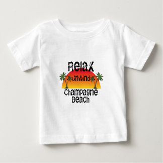 Relax Unwind Champagne Beach Baby T-Shirt