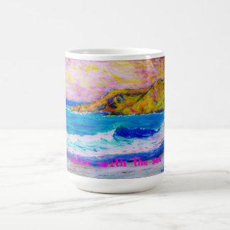 relax with the sea classic white coffee mug