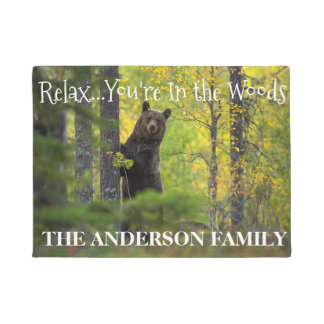 Relax..You're In The Woods Personalized Door Mat