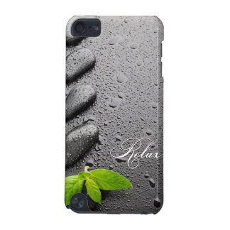 Relax Zen Stone with Mint Leaves iPod Touch 5G Cover