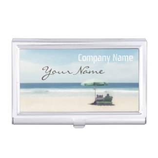 Relaxation Beach Elegant Spa Travel vacation Case For Business Cards