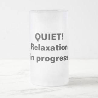 Relaxation in progress frosted mug