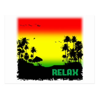relaxation rasta postcard