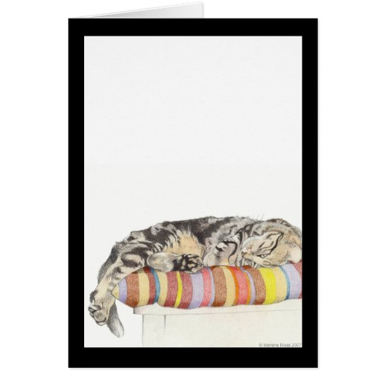 Relaxed Cat Card