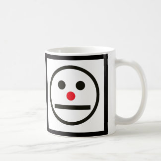 Relaxed Face Expression with Red Nose Coffee Mug