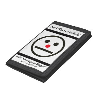 Relaxed Face Expression with Red Nose Trifold Wallets