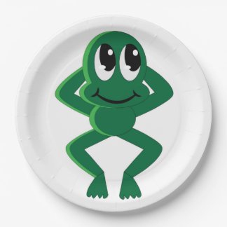 RELAXED FROG 9 INCH PAPER PLATE