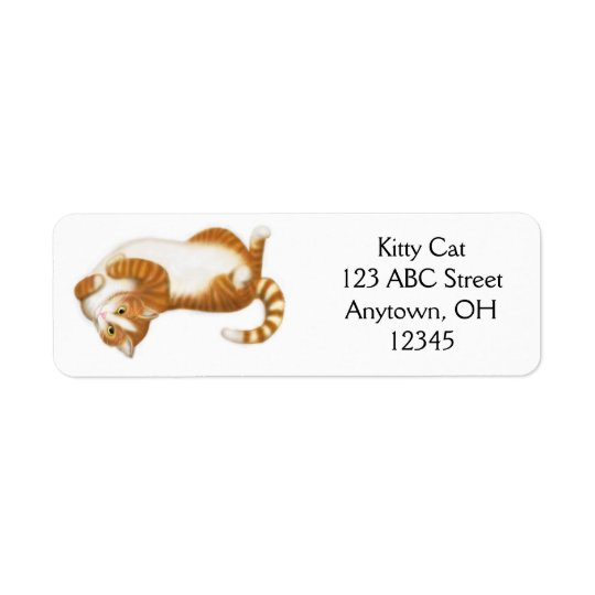 Relaxed Ginger Tabby Cat Label