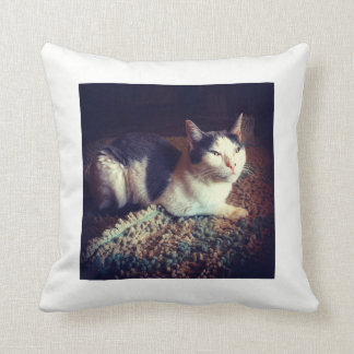Relaxed Kitty Throw Pillow