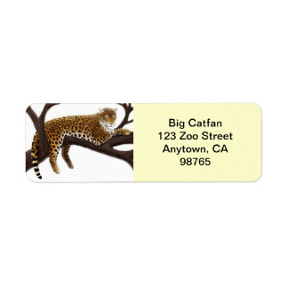 Relaxed Leopard Customizable Return Address Label