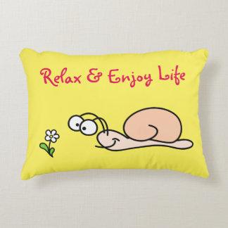 Relaxed Snail & Cute Flower Decorative Pillow