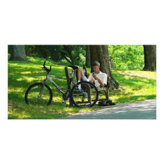 Relaxing After the Ride Photo Card