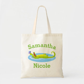 Relaxing Alligator Tote Bag