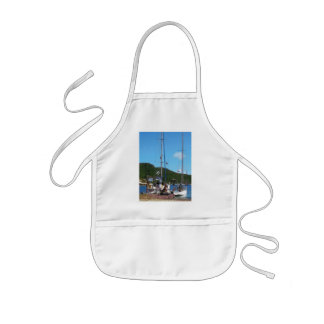 Relaxing at the Dock Kids Apron