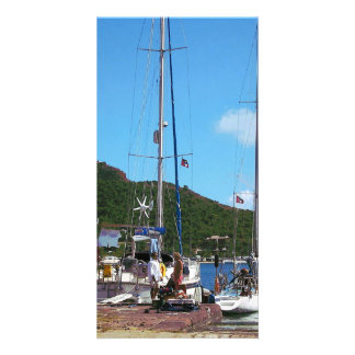 Relaxing at the Dock Personalized Photo Card