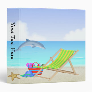 Relaxing Beach 3-Ring Binder