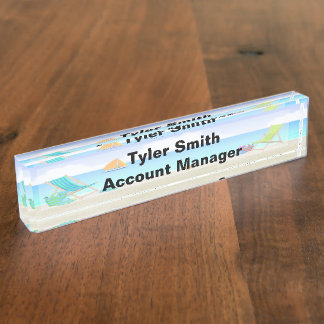 Relaxing Beach Desk Nameplate