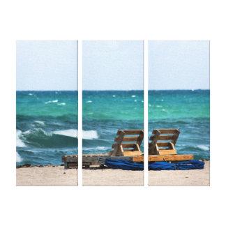 Relaxing Beach Photograph Canvas Print