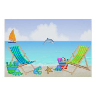Relaxing Beach Poster/Print Poster