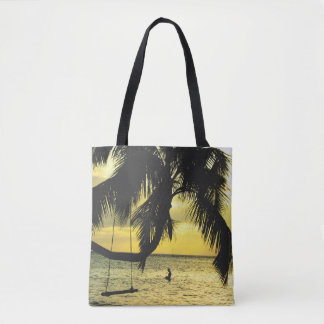 Relaxing Beach Sunset Tote Bag