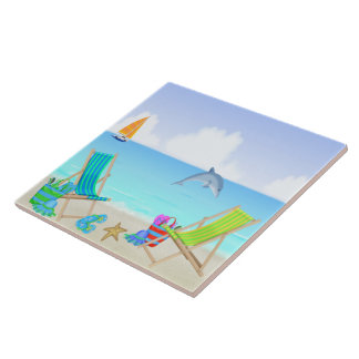 Relaxing Beach Tile/Trivet Tile