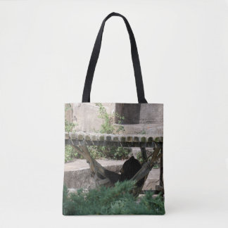 Relaxing Bear Tote Bag