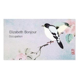 Relaxing Birds ~ Business Cards Asian Nature