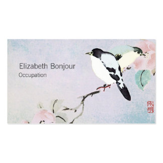Relaxing Birds Business Cards Spa Nature