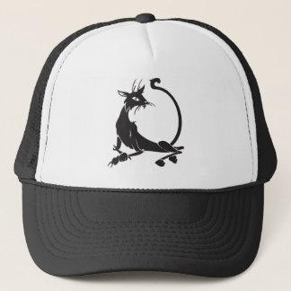 Relaxing Black Cat Trucker Hat