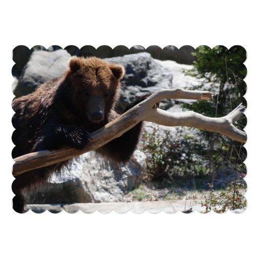 Relaxing Brown Bear Card