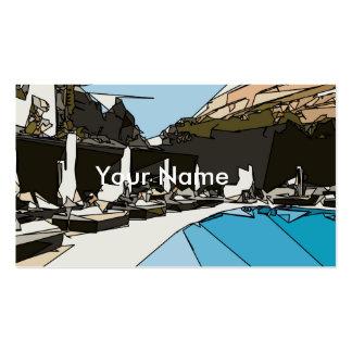 Relaxing Cabanas Vegas Resort Pool Business Cards