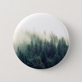 Relaxing Calming Foggy Forest Scene 2 Inch Round Button