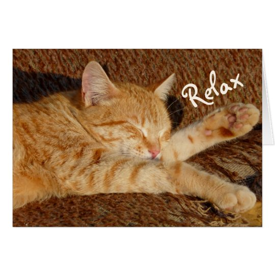 Relaxing Cat Card