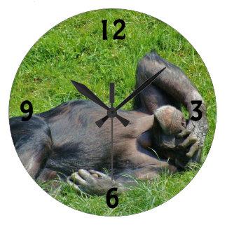 Relaxing Chimpanzee - Wall Clock