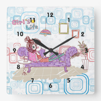 Relaxing Square Wall Clocks