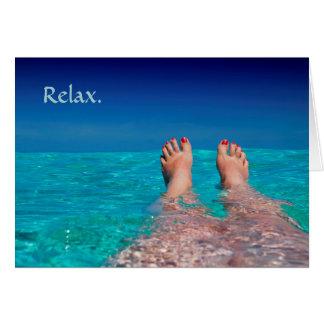 Relaxing Feet in Ocean Retirement Card