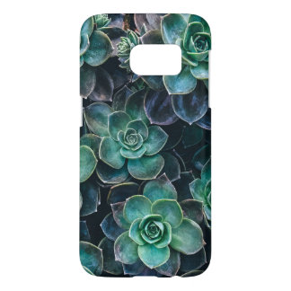 Relaxing Green Blue Succulent Cactus Plants Samsung Galaxy S7 Case