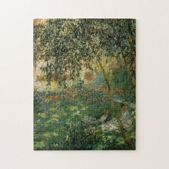 Relaxing in Garden Argenteuil Monet Fine Art Jigsaw Puzzle