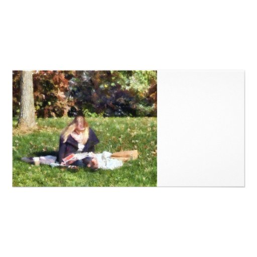 Relaxing in the Park Photo Card Template