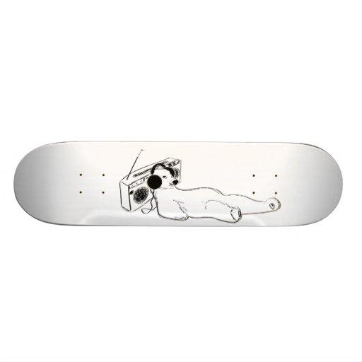 relaxing music polar bear skateboard deck