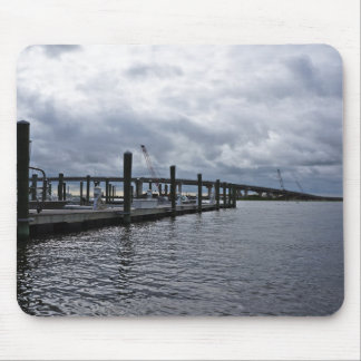 Relaxing Ocean City Dock Overcast (New Jersey) Mouse Pad