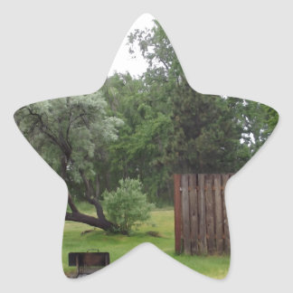 Relaxing Picnic Area Star Sticker