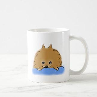 Relaxing pomeranian coffee mug