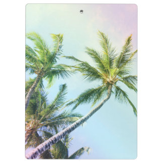 Relaxing Rainbow Color Palms Clipboard