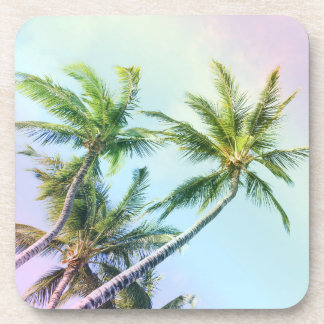 Relaxing Rainbow Color Palms Coaster