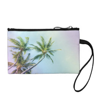 Relaxing Rainbow Color Palms Coin Purse