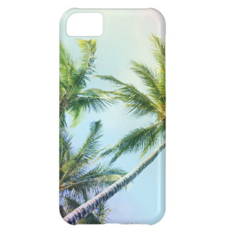 Relaxing Rainbow Color Palms Cover For iPhone 5C