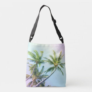 Relaxing Rainbow Color Palms Crossbody Bag