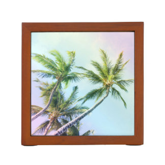 Relaxing Rainbow Color Palms Desk Organizer